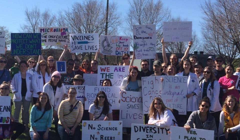 EWIS showing support at March for Science